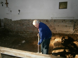 Walls of original church found