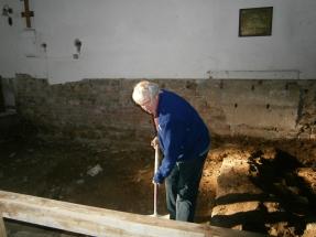 Walls of original church found