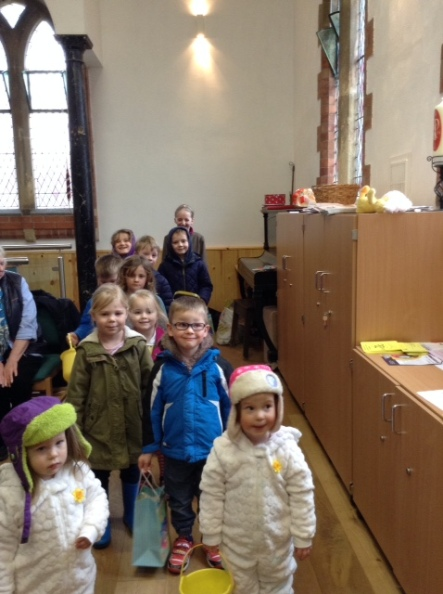 Children ready for their Easter Egg Hunt March 26th 2016