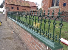 New railings in place March 2016