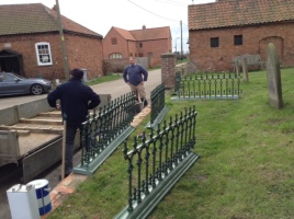 Railings returned ready for installtion March 2016